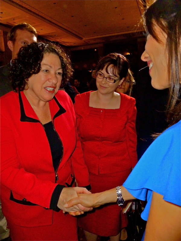 U.S. Supreme Court Associate Justice Sonia Sotomayor and Viviana Hurtado