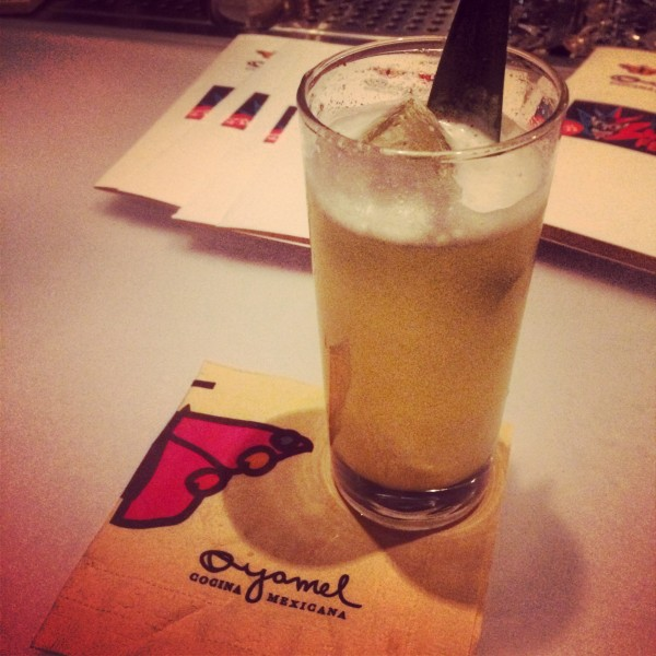 Delicioso needs no translation. Miramar tequila cocktail at José Andrés' Oyamel Restaurant. Courtesy: @fulfordhe