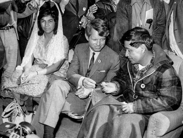 Helen and César with Robert Kennedy.