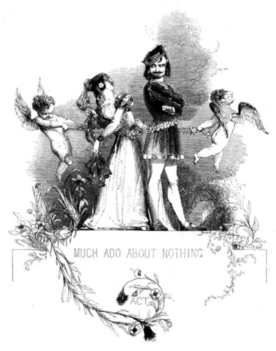 Image credit: Kenny Meadows' 'Much Ado About Nothing Act I Header' (1846); Michael John Goodman, The Victorian Illustrated Shakespeare Archive [2 September 2016].