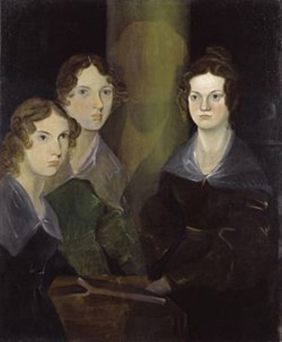 The famous portrait of the Bronte sisters by their brother Bramwell.