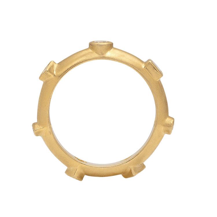 7 Centers Diamond Japa Ring — POE