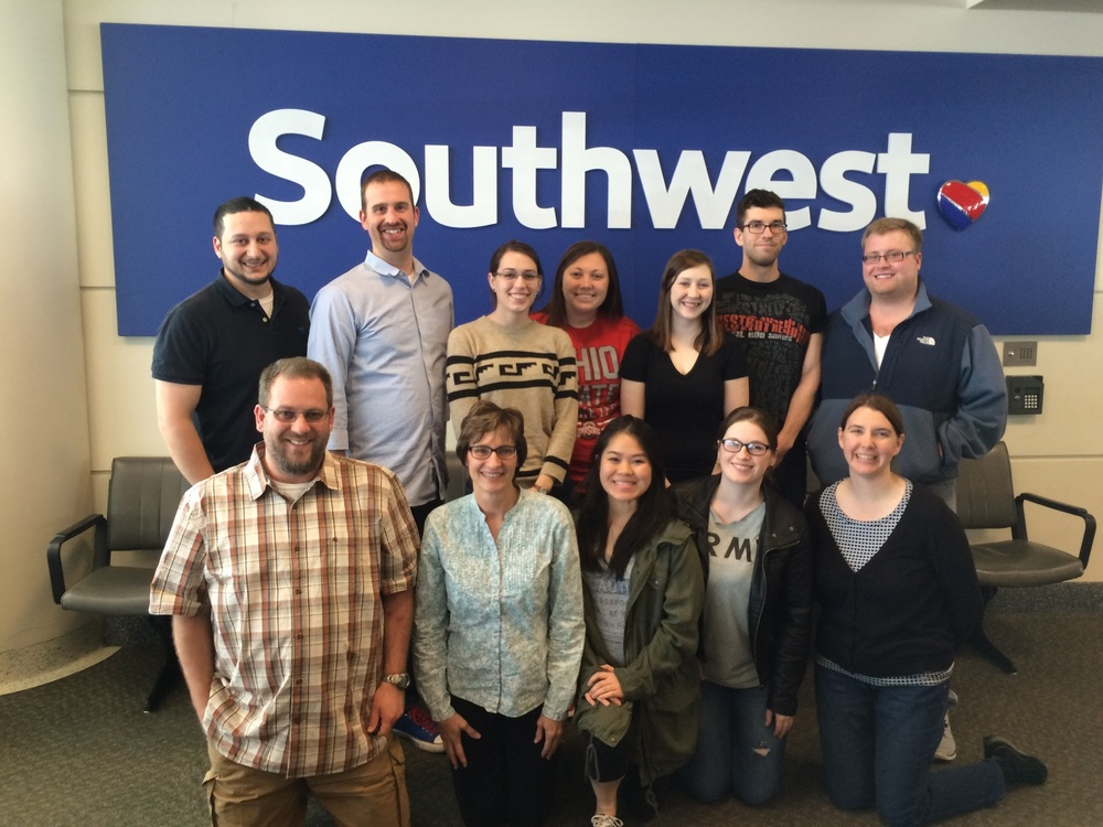 OSU Newark faculty and students returning from the Midwestern Psychological Association.