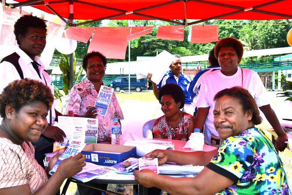 Staff from Family Support Centre were present in their stall to give awareness on domestic violence.