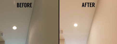 Here is a recessed light that we replaced with a bulb-free LED fixture.