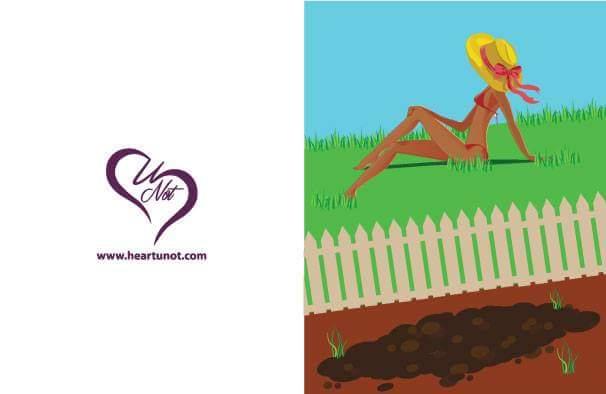 Green Grass - Breakup Card by Heart U Not