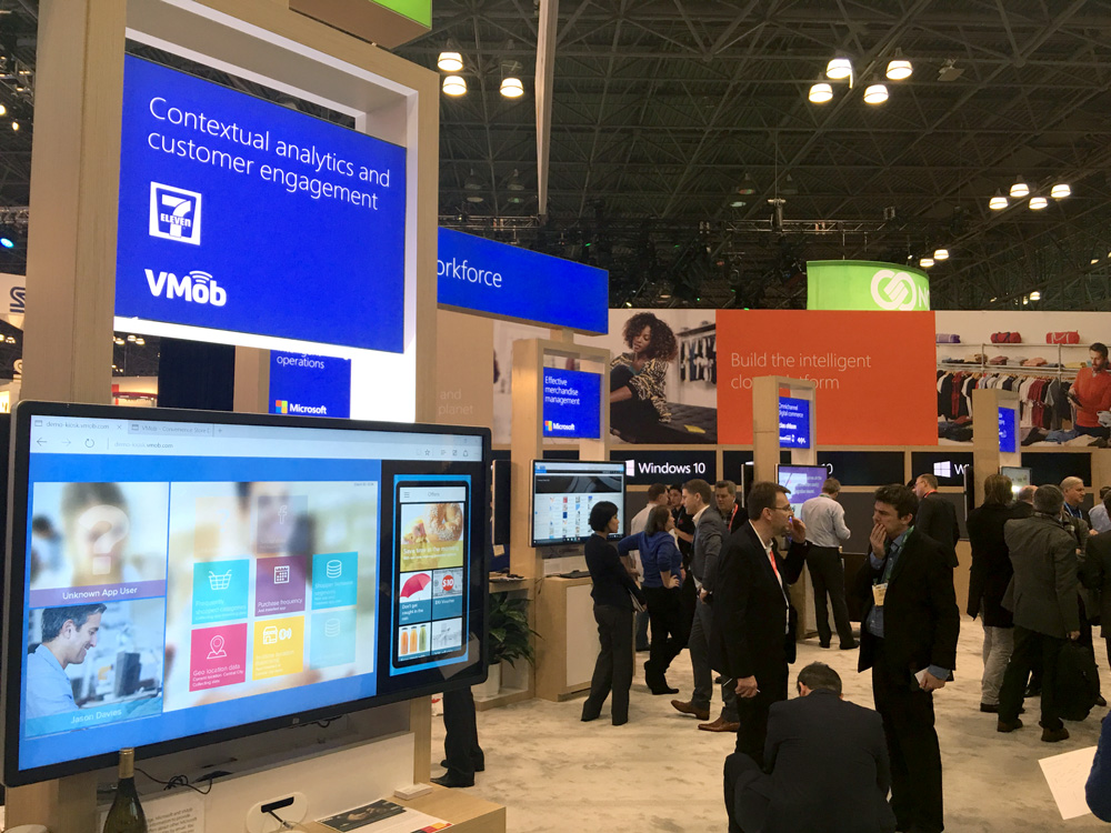 VMob on the Microsoft stand at NRF2016
