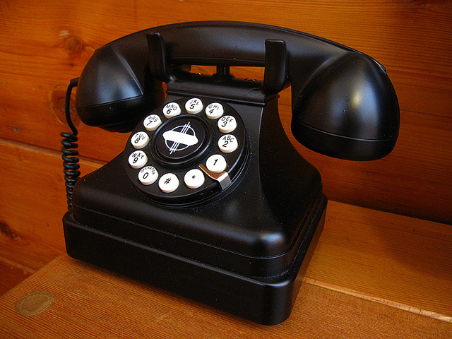 """ Telephone "" by H.I.L.T. via Flickr ( CC 2.0 )"