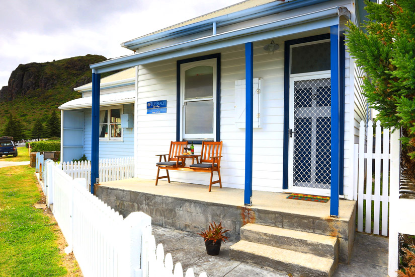 '@ The Beach – Stanley' is heavenly. Let yourself unwind as the surf crashes ashore at Godfrey's beach, voted one of the best beaches in Australia, just outside your front door. With a choice of two cottages, '@ The Beach – Stanley' can place you right at the beach, or in the heart of Stanley village.