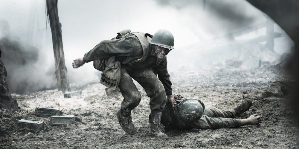 Hacksaw Ridge starring Andrew Garfield and directed by Mel Gibson