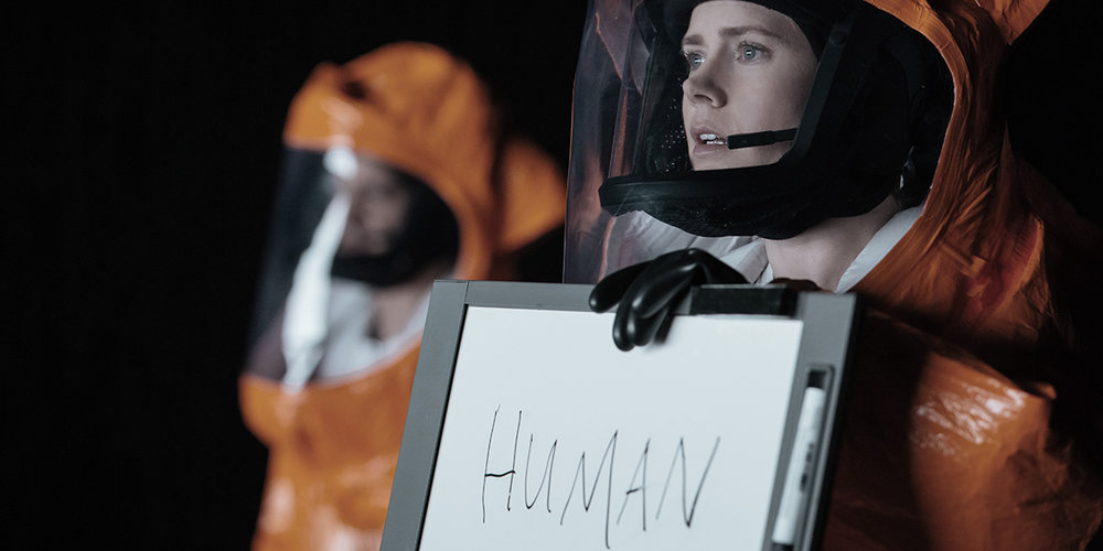 Arrival directed by Denis Villeneuve starring Amy Adams and Jeremy Renner