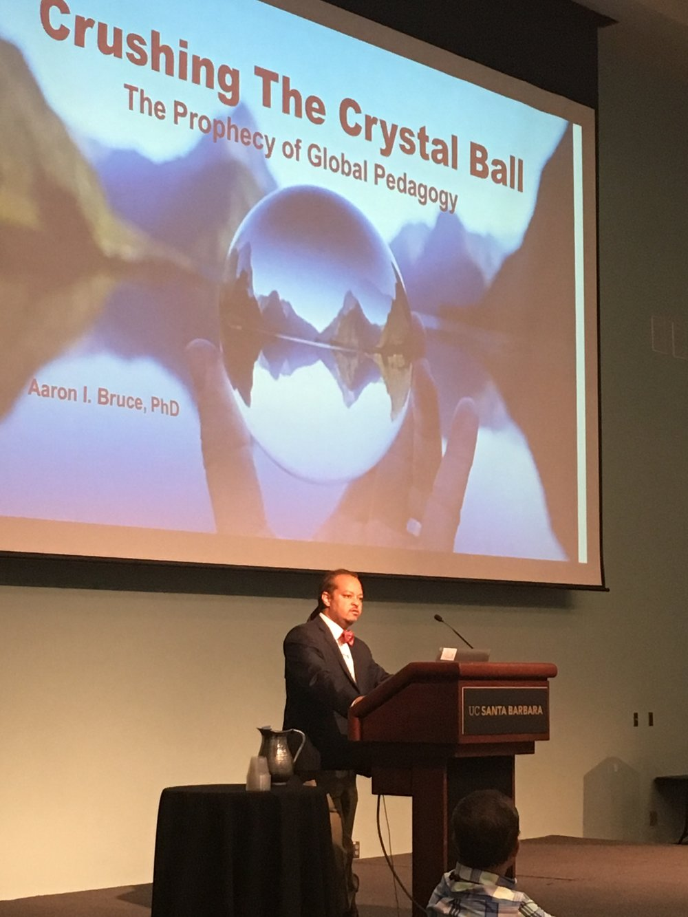Dr. Aaron Bruce, Chief Diversity Officer at San Diego State University, launched the global competence keynote series for the World Language Summer Seminar.