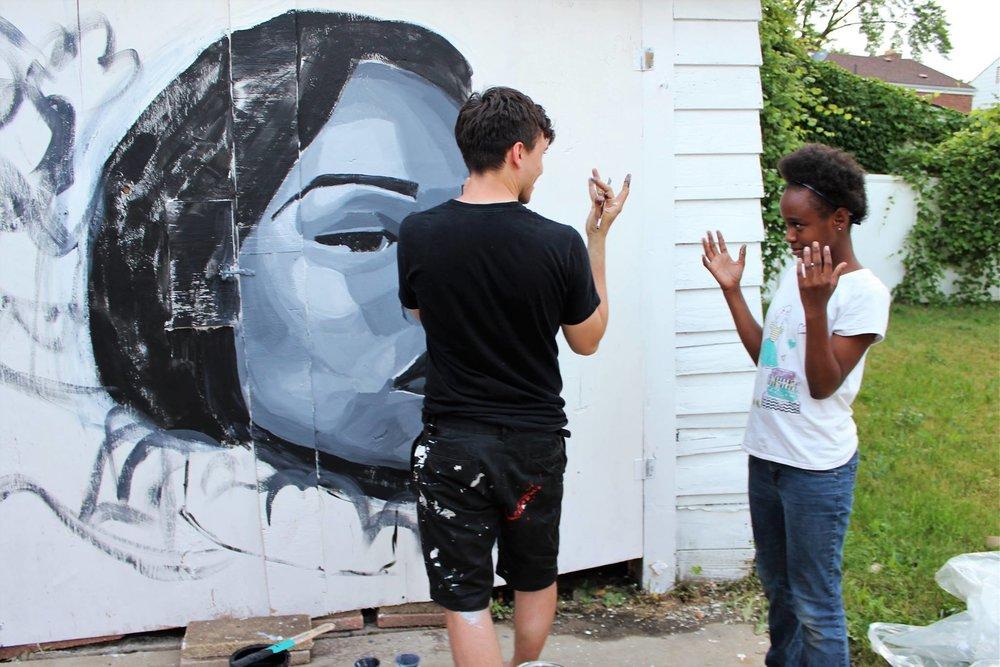 Garage Mural in the making.jpg