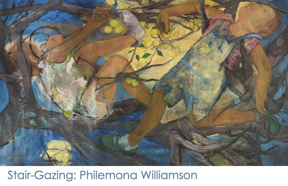 Stair-Gazing: Philemona Williamson, gallery card (front)