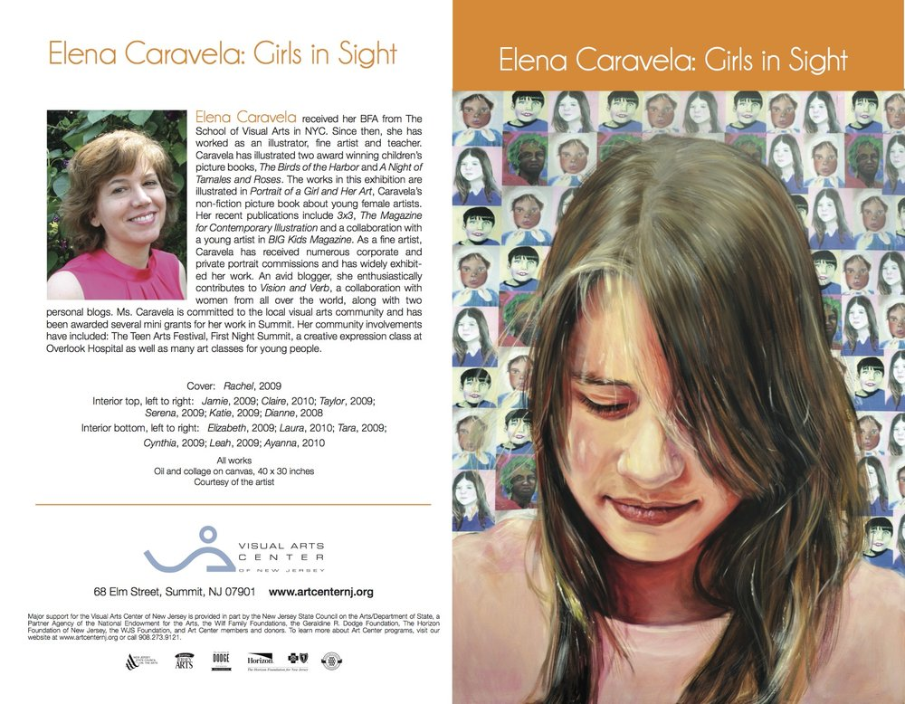 Elena Caravela: Girls in Sight, brochure (outside)