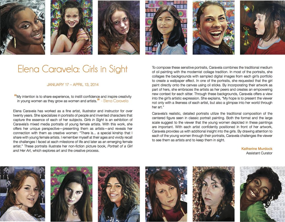 Elena Caravela: Girls in Sight, brochure (inside)