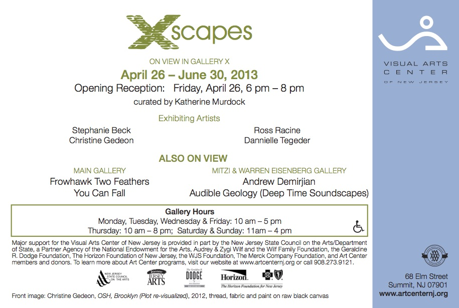 X-scapes, gallery card (back)