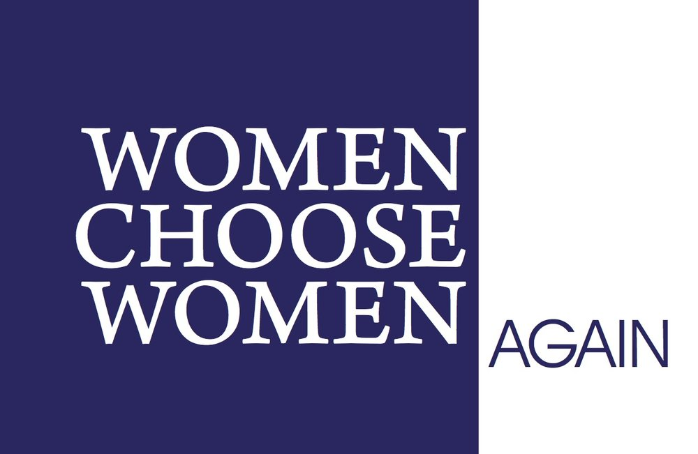 Women Choose Women Again, gallery card (front)