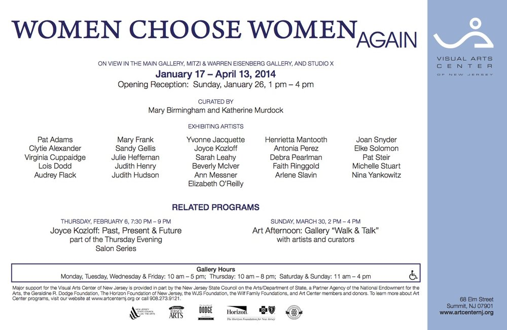 Women Choose Women Again, gallery card (back)
