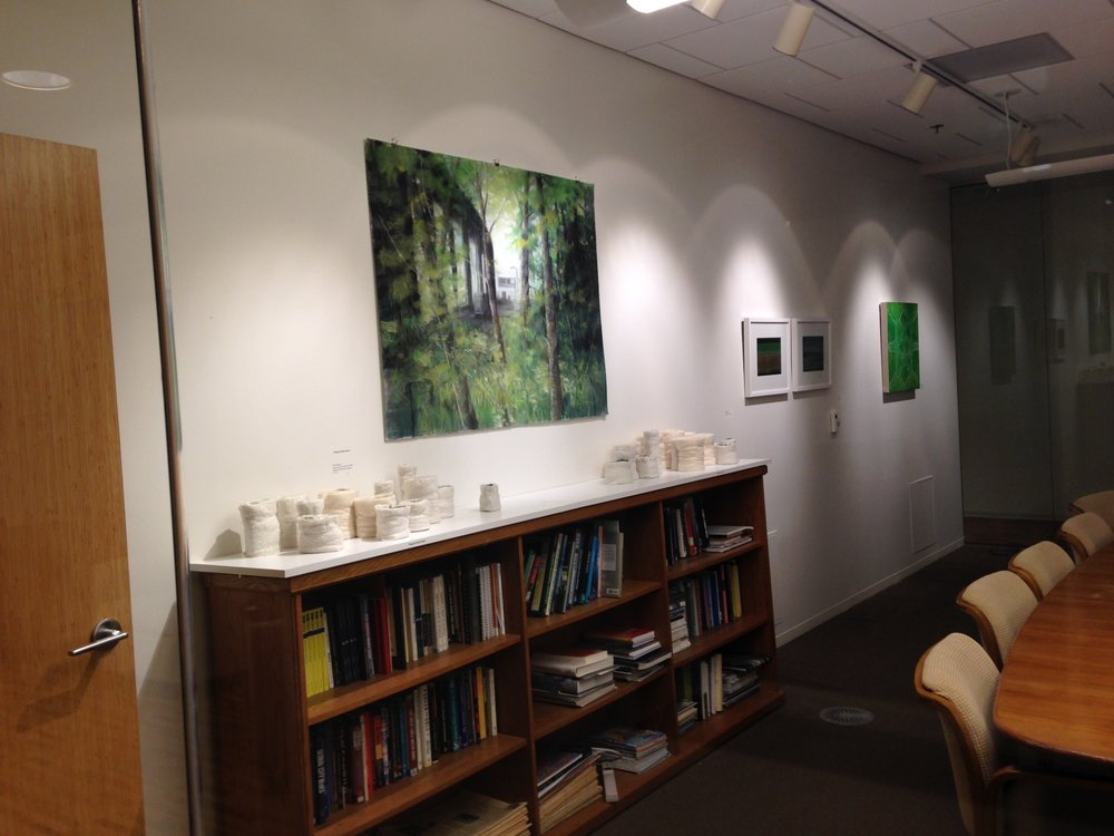 Installation photo of Black, White and Green