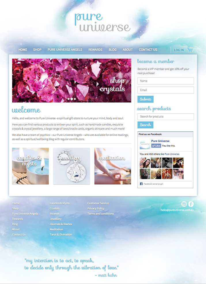 Spiritual website design
