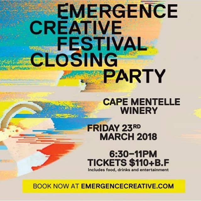 Have you got your tickets yet for the @emergencecreative closing party at @capementelle⁉️ Tickets include entertainment, drinks and food catered by us.👌🏼 🍔 See you there! 👋🏼👋🏼👋🏼