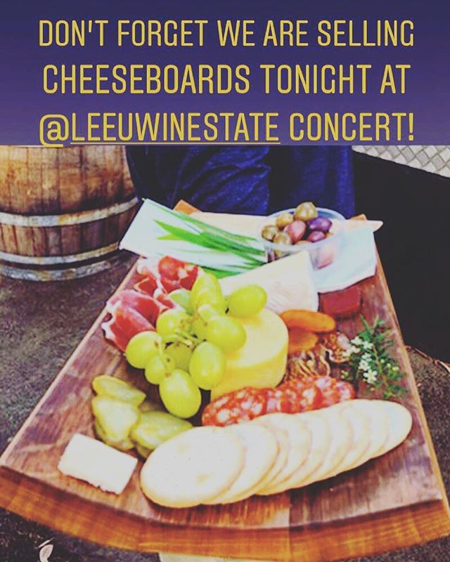 Along side our burgers we are also selling cheese boards. Limited supply so don't miss out❗️✨ See you all tonight! 🧀🍔🎼