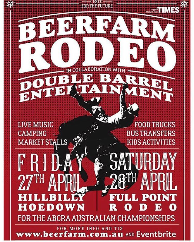 @margaretriverburgerco is so excited to be apart of this years @beerfarm Rodeo. Doors open Saturday the 28th at 9:00 AM.  See you there! 👋🏼🤠 #getyourtickets #familyfriendly