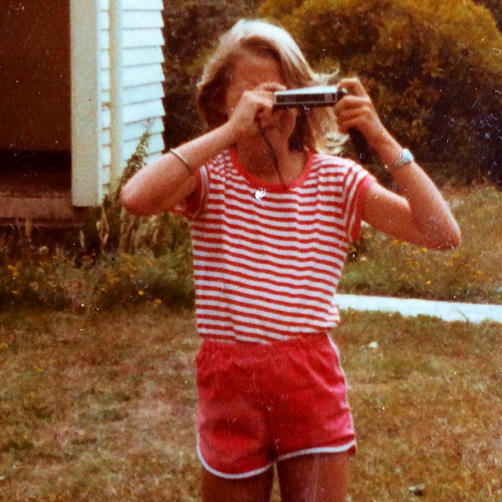 Me with my first camera back in the day...