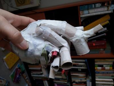 paper mache heart