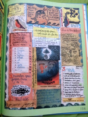 visual journaling; Lynda Barry