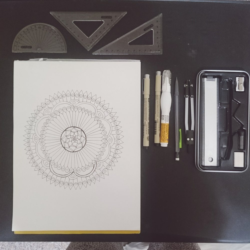 colouring mandalas