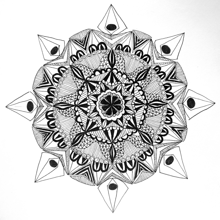The first mandala that I ever drew