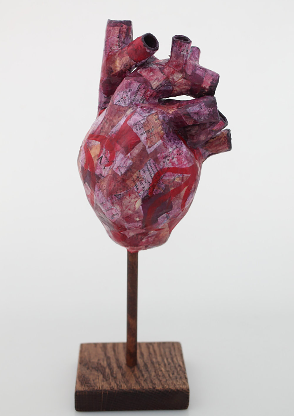 Proud Heart - Green  Papier maché and wood  10 x 4 x 3.5 inches  2016