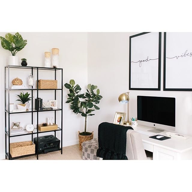 My new favorite room in the house 🖤✨ special thanks to my awesome mama for helping me bring my little space to life ☁️🌿 chasing all my dreams from right here! ~good vibes~ only 💫 swipe to see the before!