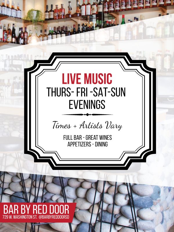 Live Music schedule - Thursday - 5pmFridays  - 6:30pmSaturday - 6:30mSundays - 5pmsubject to change