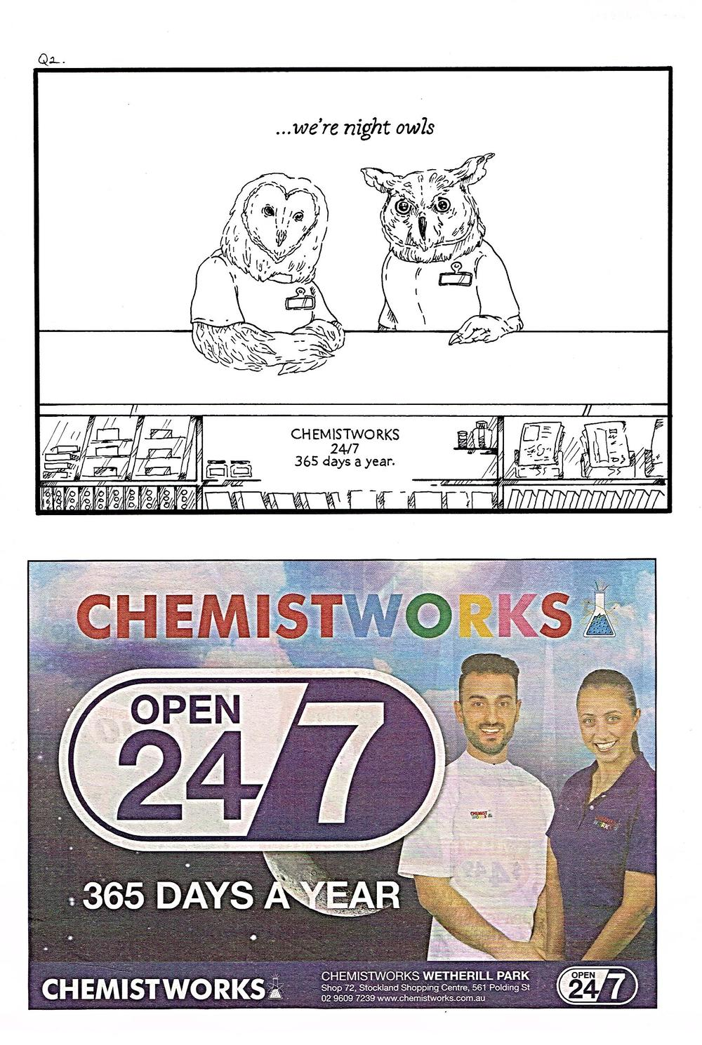 The brief asked us to change an ad we thought was particularly godawful...I chose the unfortunate people at Chemistworks to pick on...