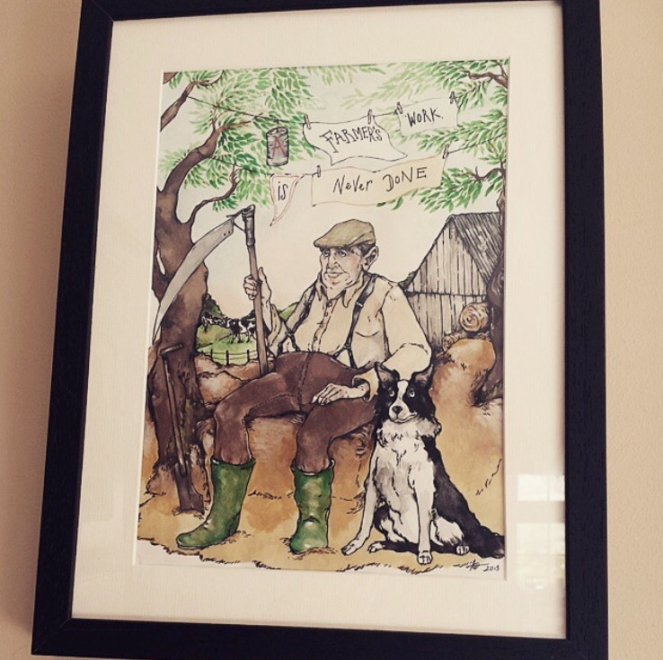 Proudly hanging on the wall in the Farmer's kitchen...