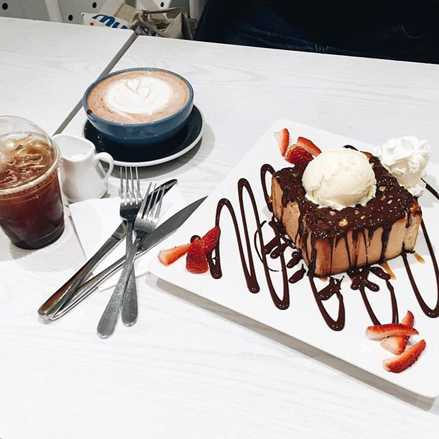 On our mind 24/7 🤤 #Chocolate Honey-Bread to cure all dessert cravings! Thick Honeytoast drizzled in caramel and coverture chocolate (milk or dark) topped with vanilla ice-cream and cream (optional) | 📷: @_theroundrabbit | #passiontree #sydney #chatswood #yum #foodporn #dessert