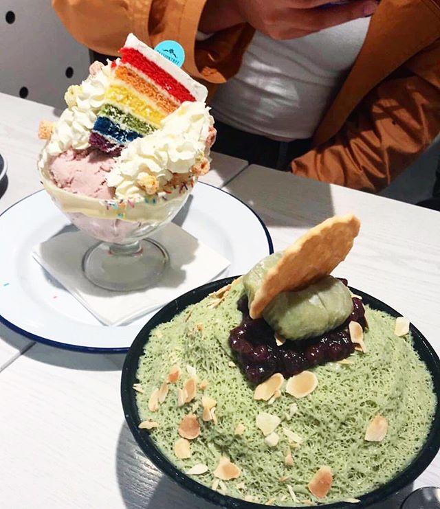 #Rainbow #Cake #Sundae + #Matcha #Bingsoo! 📷: @mmirafaith | #passiontree #thesweetspot