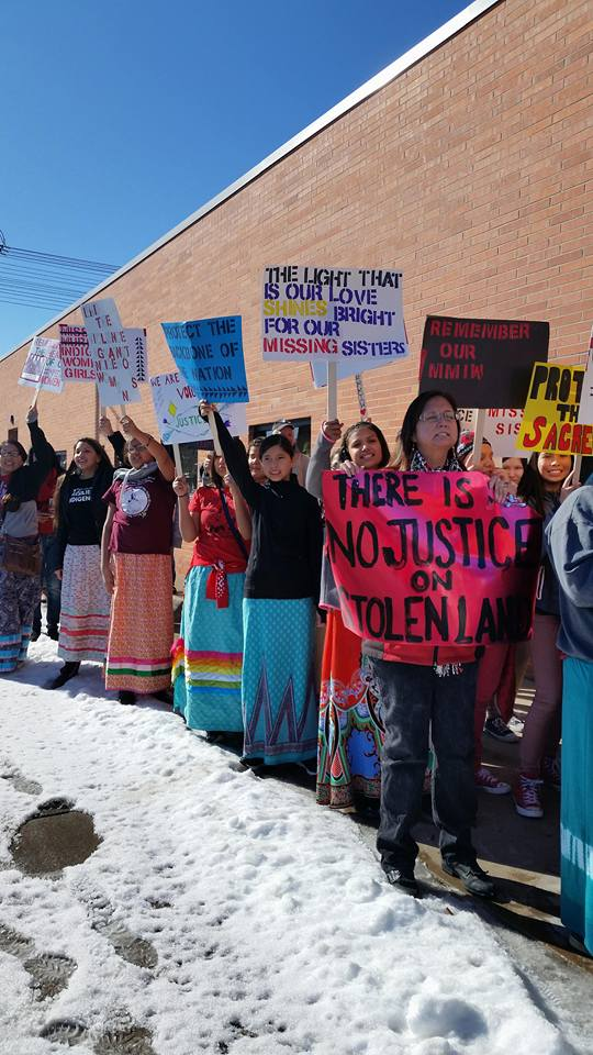 Students rally at the Missing and Murdered Indigenous Women Walk- Rapid City, SD 2017