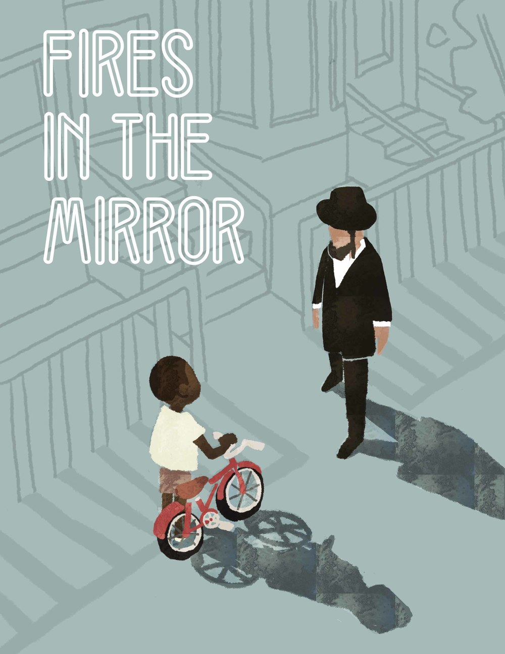 2016 SCHOLASTIC CALIFORNIA REGIONAL AWARDS-GOLD KEY WINNER  Poster design for  Fires in the Mirror , a play about the Crown Heights riots, a series of racial and ethnic clashes between the black community and the Hadisim population in 1991 Brooklyn.