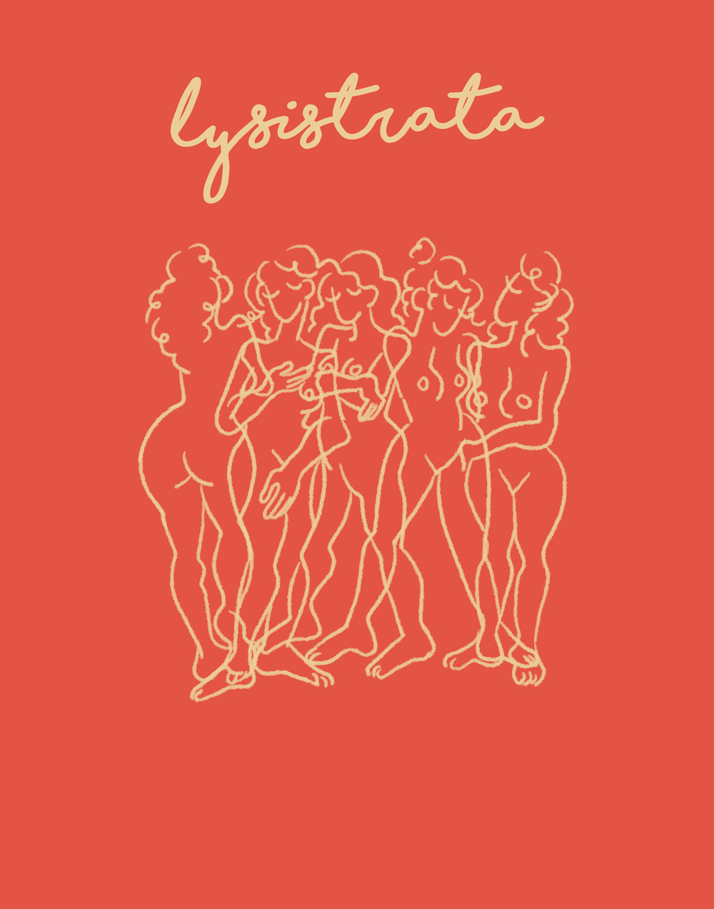 Poster for  Lysistrata , a play about women going on a sex strike to prevent their husbands from continuing the Peloponnesian War.