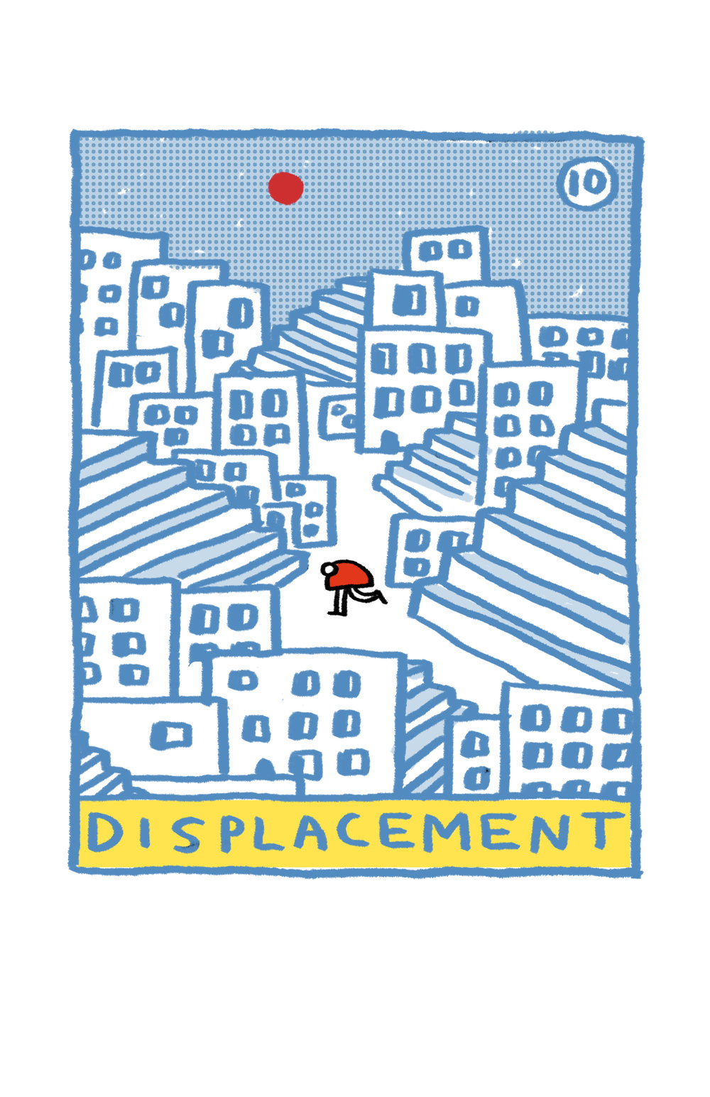 Cover design for the tenth issue of  Displacement
