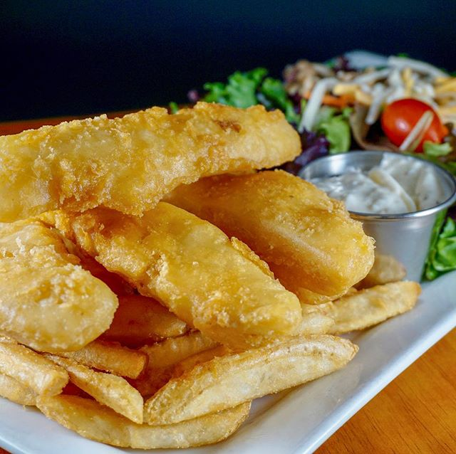 Wild caught beer battered Halibut Fish & Chips:  one of the favorite menu items of our regular guests... have you tried this dish?  What did you think?