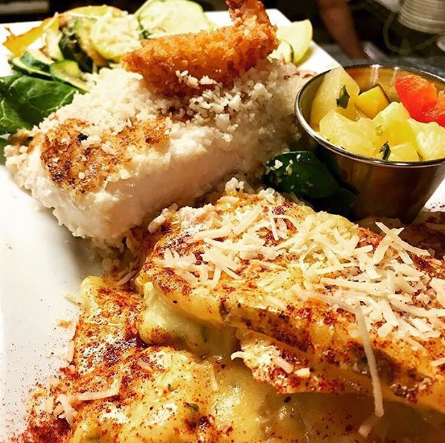 Valentine's Day Dinner Specials!!! A). Coconut Macadamia Encrusted Halibut  B). Horseradish Encrusted Prime Rib C). Seafood Pasta w/ Crab, Shrimp, and Halibut
