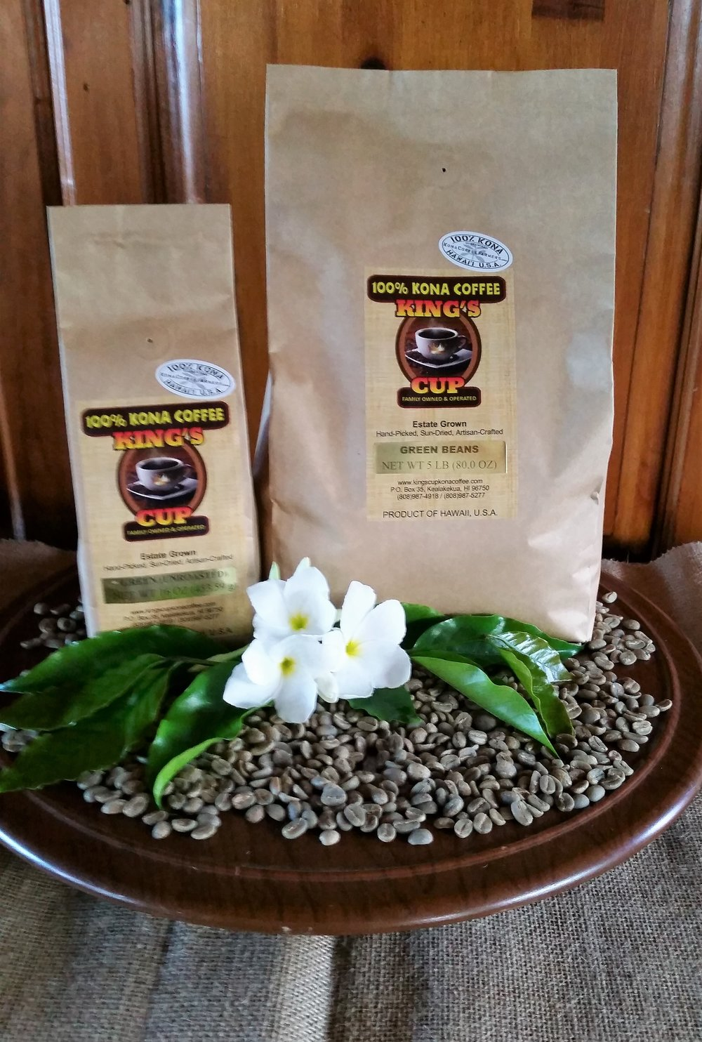 Green coffee beans (unroasted)