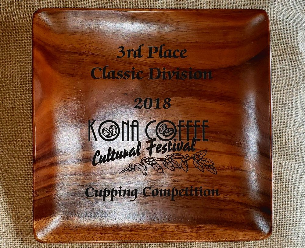 King's Cup 100% Kona Coffee_3rd Place Classic Division Award - 2018 KCCF Cupping Competition