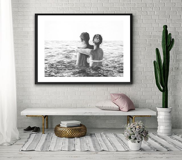 Couple in Calm Sea.  One of 10 coastal scenes showcasing the Australian beach experience, prints available online now!