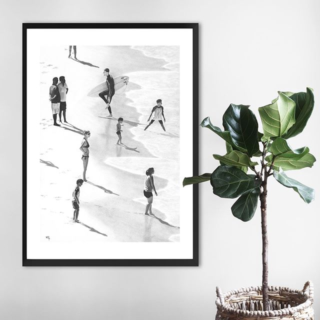 Shore Shadows.  Showcase your love of coastal life with this print of an original hand drawn charcoal sketch. One of 10 pieces in the 2018 Beach Collection. Shop now for Xmas!